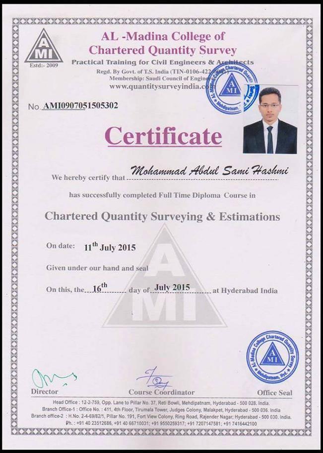 Al-Madina Certification - Al-Madina